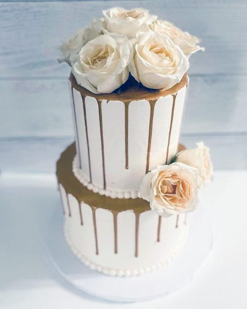 Golden Syrup White Wedding Cake
