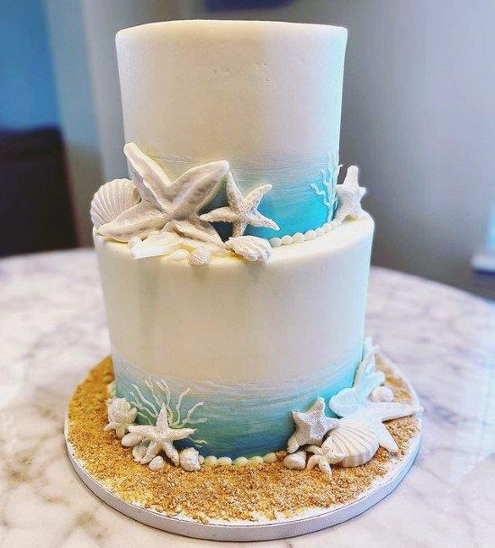 Gorgeous Beach Wedding Cake Women