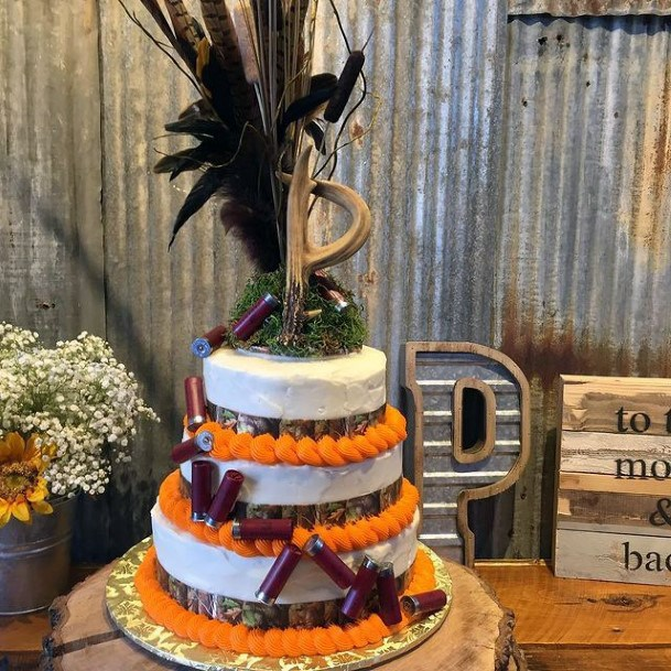 Gorgeous Black Topper Camo Wedding Cake