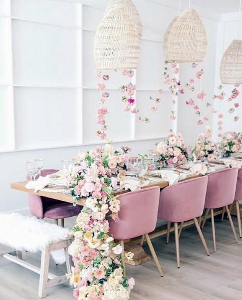 Gorgeous Blush And White Flowers Wedding