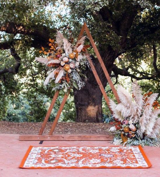 Gorgeous Boho Wedding Flowers Backdrop Art