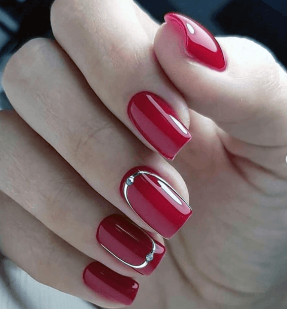 Gorgeous Bright Red Nails For Women