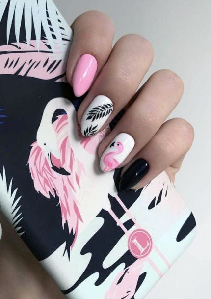 Gorgeous Flamingo Nails Women