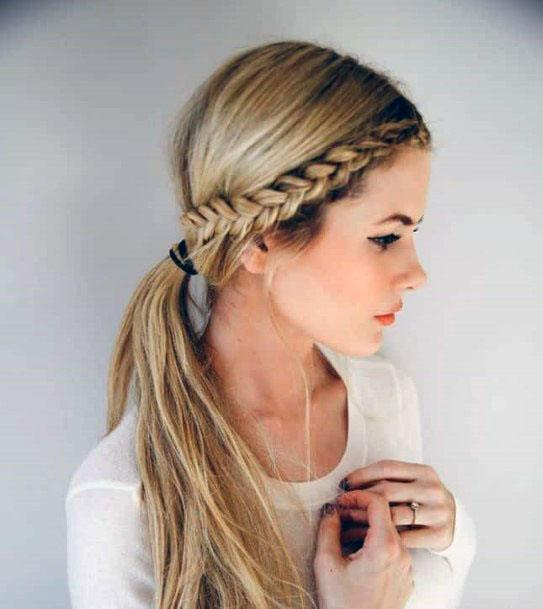 Gorgeous Golden Crown Braided Hairstyle Women