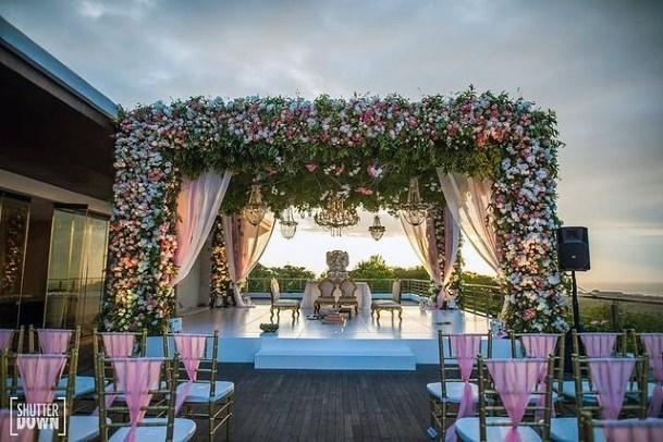 Gorgeous Indian Wedding Flowers Platform Decor
