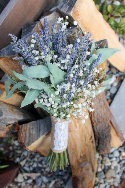 Gorgeous Lavendar Plant And Flowers Arrangement Wedding