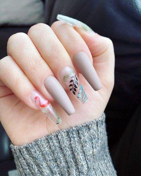 Gorgeous Long Legged Swan Tropical Nails Women