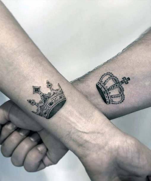 Gorgeous Two Tattoos Of Crown Women