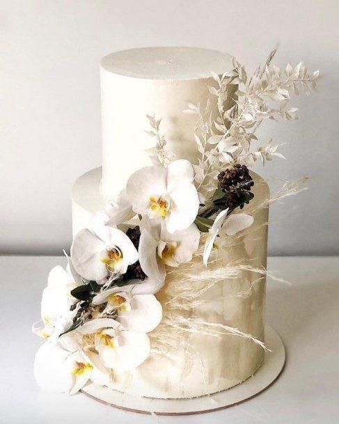 Gorgeous White 2 Tier Wedding Cake