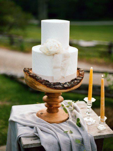 Gorgeous Wooden Art Wedding Cake Stand Women