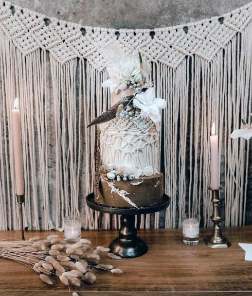 Grand 3 Tier Wooden Cake Wedding Womens