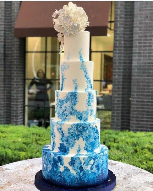 Grand And Large Blue Wedding Cake