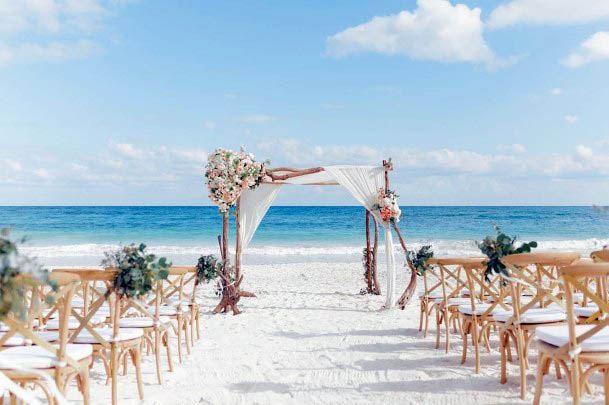 Grand Beach Wedding Flowers Decorations