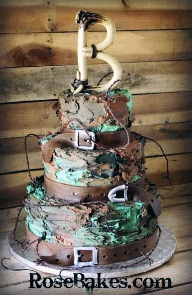 Grand Camo Wedding Cake