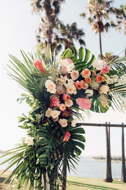 Grand Display Of Tropical Wedding Flowers