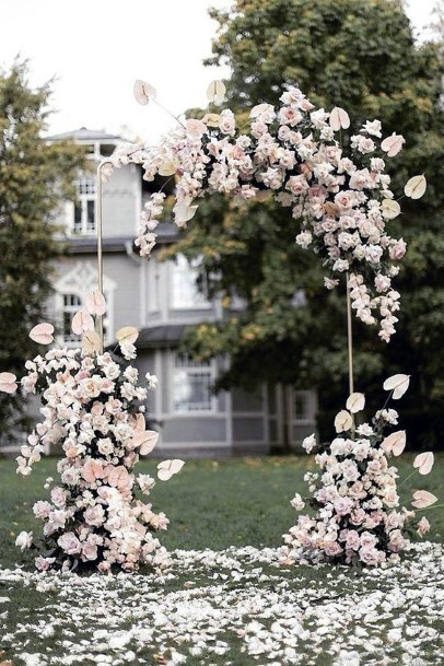 Grand Gala Of Blush Flowers Wedding