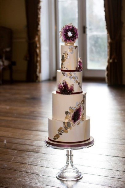 Grand Purple Wedding Cake