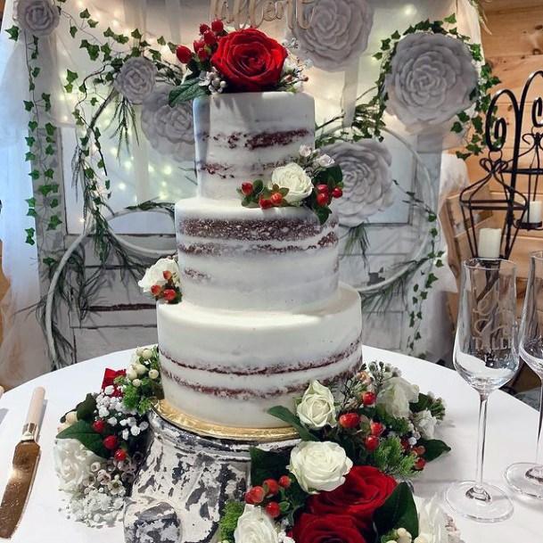 Grand Red Velvet Wedding Cake