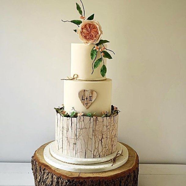 Grand Rustic Wedding Cake Toppers