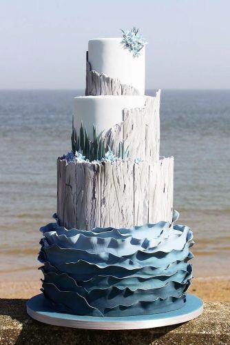 Grand Womens Beach Wedding Cake