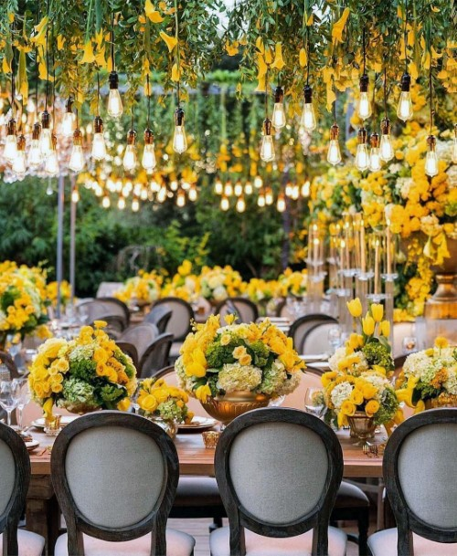 Grand Yellow Flowers Wedding