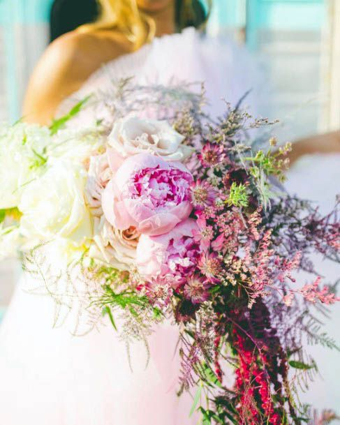 Great Pink Flowers Wedding