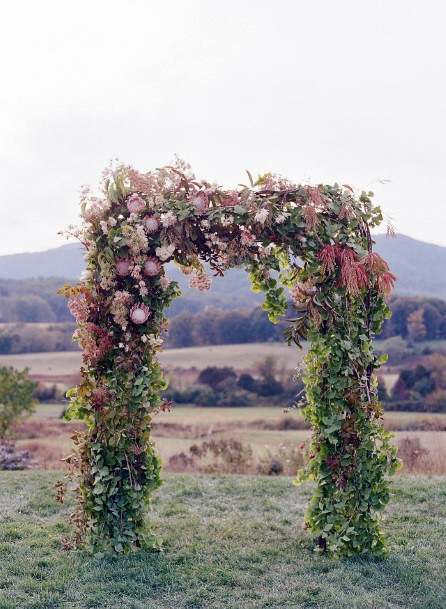 Green Arch November Wedding Flowers
