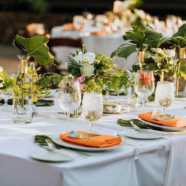 Green Hawaiian Wedding Flowers