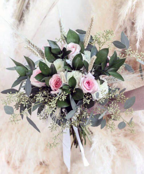 Green Leafy Beach Wedding Flowers