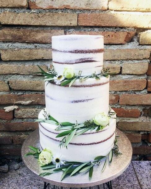 Green Leafy Red Velvet Wedding Cake