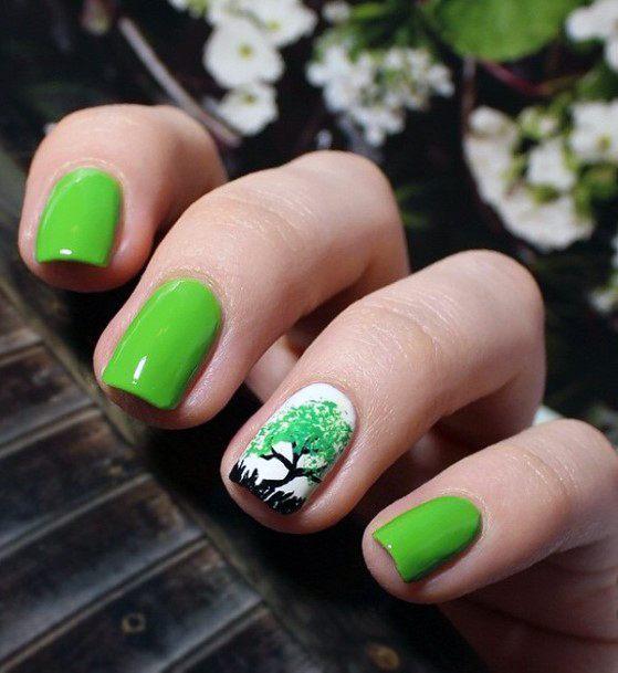 Green Nail 36