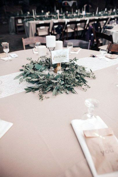 Green Themed November Wedding Flowers