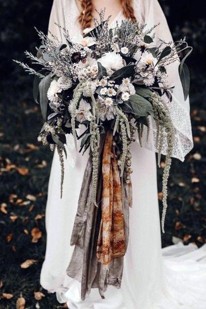 Greenish Boho Wedding Flowers Bouquet