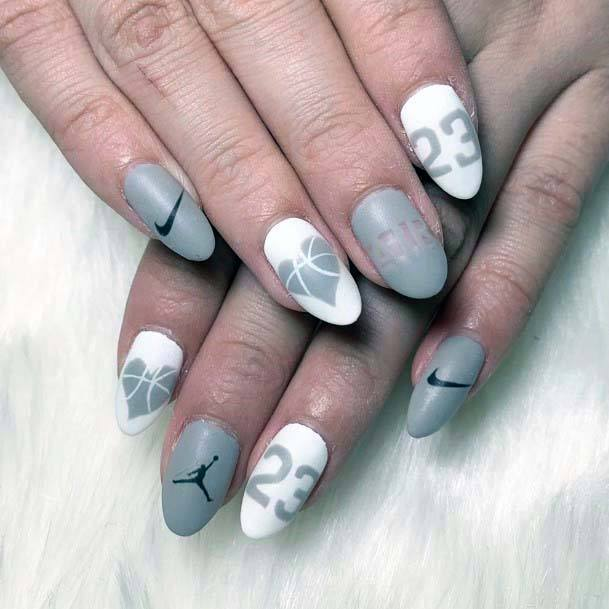 Grey Tinted Sport Nails For Women