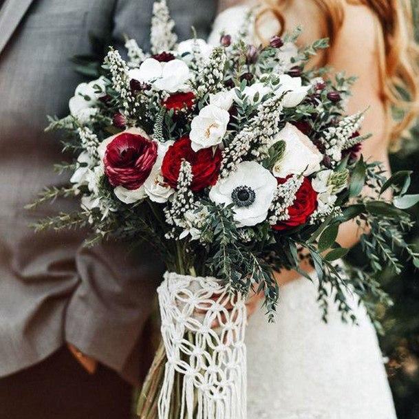 Group Of Christmas Wedding Flowers