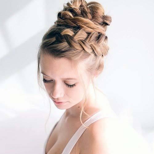 Hairstyles For Women Beautiful Thick Braided Bun