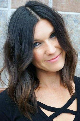 Hairstyles For Women Layered Curly Messy Chocolate Brown