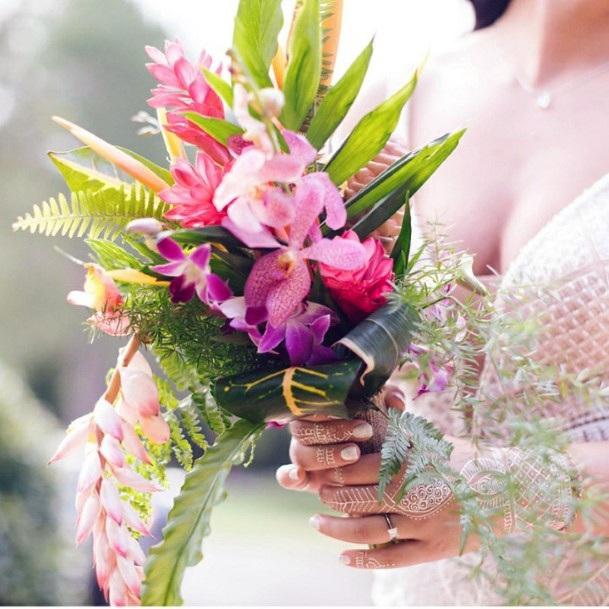 Hawaiian Wedding Flower Bouquet