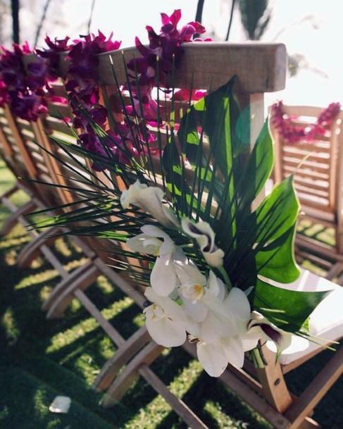 Hawaiian Wedding Flowers Chair