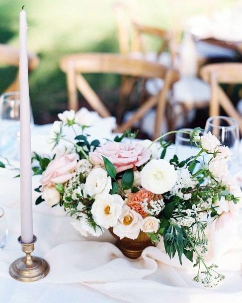 Hawaiian Wedding Flowers On Table