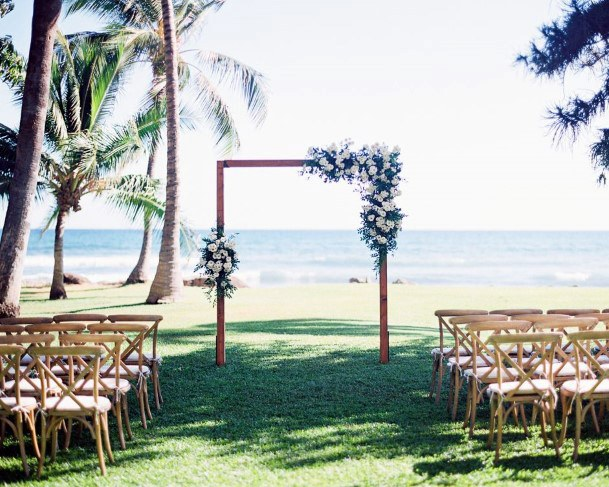 Hawaiian Wedding Flowers Square Arch