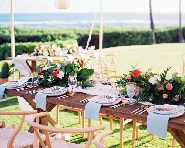 Hawaiian Wedding Flowers Table Runner