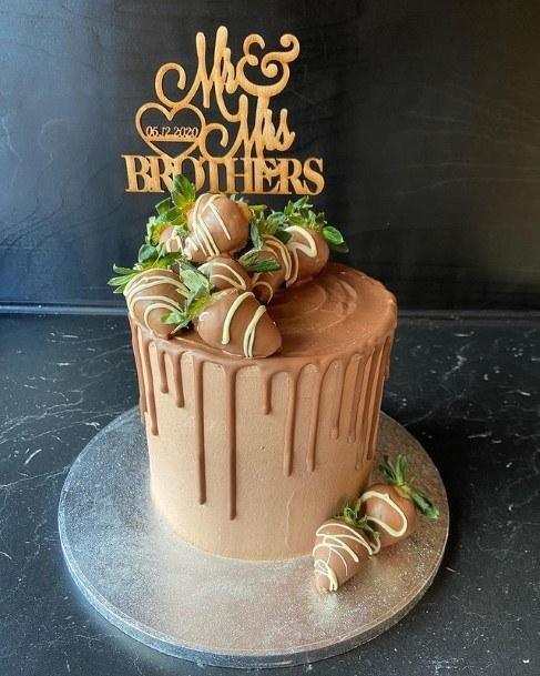 Hazel Colored Chocolate Wedding Cake