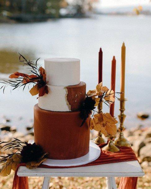 Hazelnut Toned 3 Tier Wedding Cake Women