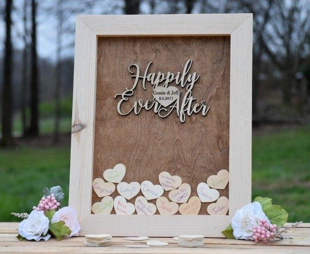 Hearts In A Box Wedding Guest Book Ideas