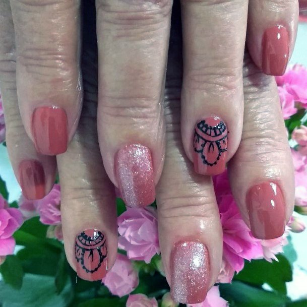 Henna Charming Designs For Women Nails