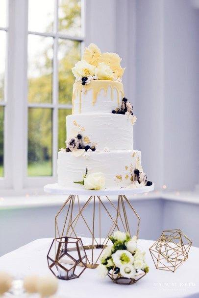 Hexagonal Wedding Cake Stand Women