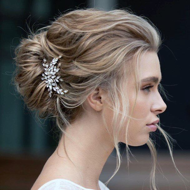 High School Prom Loosely Accessorized French Twist