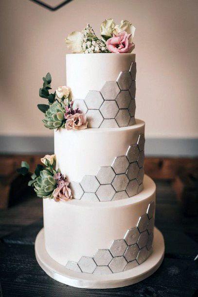 Honey Bee Textured 3 Tier Wedding Cake Women
