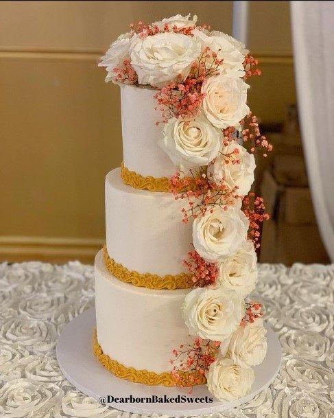 Honey Buttercream Wedding Cake